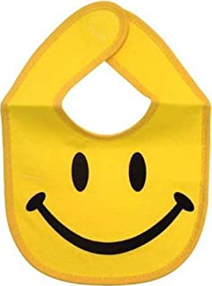 Yellow Smiley Face Baby Bib