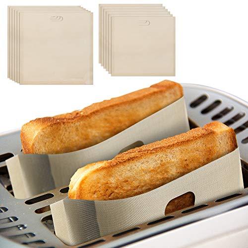 Mopoin Bolsas para tostadora, 12 unidades, antiadherentes, papel de hornear, reutilizables, para pasteles, trozos de pizza, sándwiches de queso, pollo, nuggets y tostadas