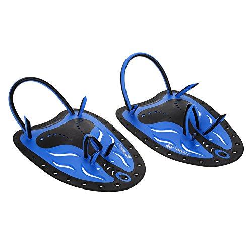 Zetiling Palas de Mano, natación Profesional Palas de Entrenamiento Formación de Buceo Ajustable Aletas de Mano Aletas Planas Natación Ayuda de Entrenamiento para Hombres Mujeres(# 3)