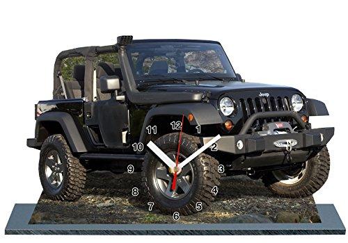 auto-horloge Jeep Wrangler, Miniatur Modell Motorrad in der Uhr 05
