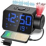 TAKRANK Orologio digitale da comodino proiettore orologio...