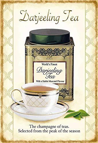 Blechschild 20x30cm Darjeeling Tea Tee The Champagne Of Teas Schild Tin Sign