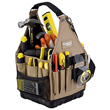 "Jackson Palmer 9"" Tool Carrier with Rubber Base with Additional Pouches (Electrical & Maintenance Tool Bag)"