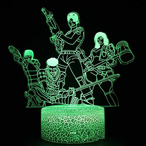 Anime Festung 3D LED Nachtlicht Bunte Stereo Vision Lampe Kreatives Geschenk, Atmosphäre Kleine Tischdekoration