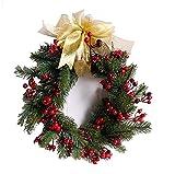 ZGYZ Flores Artificiales,Guirnalda navideña,Guirnalda Hecha a Mano de imitación de Acebo y Bayas,Ideas para Bodas en la Puerta Principal,Fiestas Familiares,macetero Colgante Interior y Exterior para