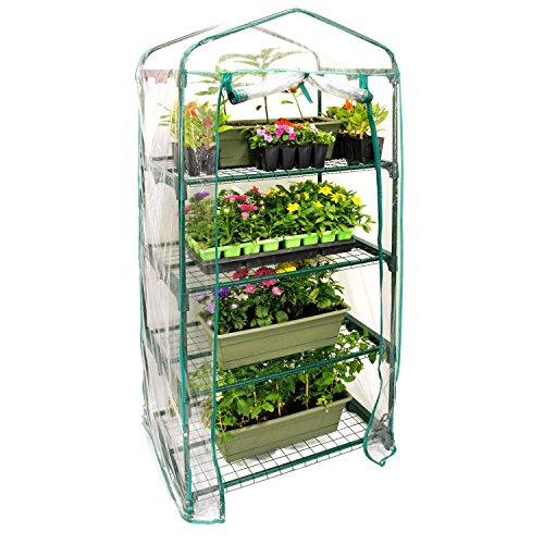 "U.S. Garden Supply Premium 4 Tier Greenhouse, 27"" Long x 19"" Wide x 63"" High - Grow Seeds & Seedlings, Tend Potted Plants"