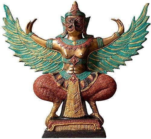 aipipl Decoración de la Estatua de Garuda, Escultura Artesanal de Cobre Puro, decoración de la India, decoración de la Oficina en el hogar, 13,7 * 12,5 Pulgadas