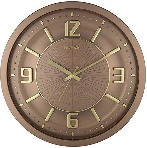 Oreva Round Plastic Sweep Wall Clock (30.6 x 4.38 x 30.6 cm, Cola, AQ 1457 SS)