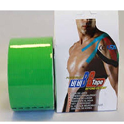 Venda Tape Neuromuscular 5 cm x 5 m Verde-Unidad