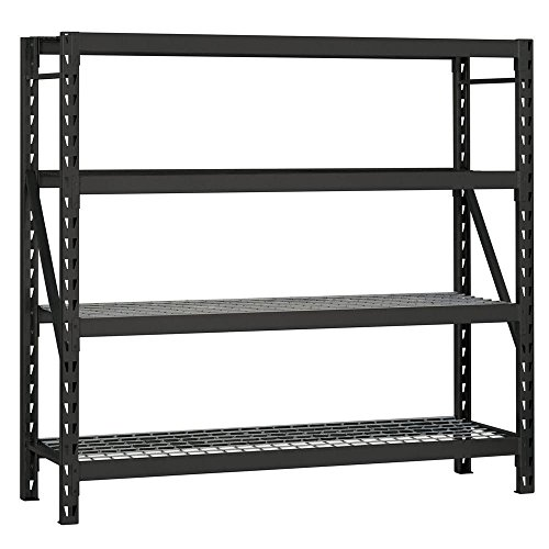 Resilia Shelf Liner Set for Wire Shelving Units – 4 Pack, 18 Inches x 48 Inches, Black Diamond Pattern, Anti-Slip, Heavy Duty, Made in The USA