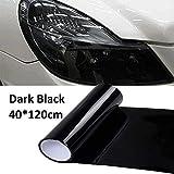 Pellicola per luci per auto Riloer, pellicola vinilica per fari, fanale posteriore, fendinebbia per fanale posteriore, 40x120cm, nero scuro