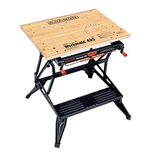 BLACK+DECKER Workmate Portable Workbench, 425-to-550-Pound Capacity (WM425)