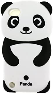 iPod Touch 6 Case, iPod Touch 5 Case, 3D Cute Cartoon Rainbow Panda Animal Shaped Soft Rubber Silicone Shockproof Case Protector Skin Cover for iPod Touch 6th / 5th Generation (Panda)