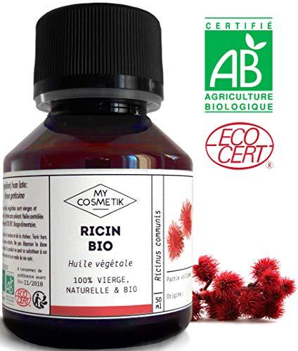Huile végétale de Ricin BIO - MyCosmetik - 500 ml