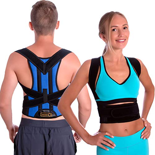 Rücken Geradehalter für Männer, Frauen unter der Kleidung - Verstellbarer Haltungskorrektur Rückenbandage, komfortable Rückenstützen zur Linderung von Nacken-, Schulter- und Rückenschmerzen (L)