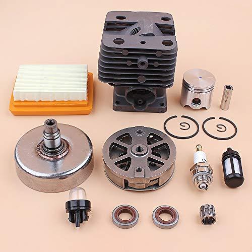 LIBEI Kit de reconstrucción de Sello de Aceite de Tambor de Embrague de Filtro de Aire de pistón de Cilindro de 35MM para Motor de Motor de cortadora de desbrozadora STIHL FS120 FS200 FS250