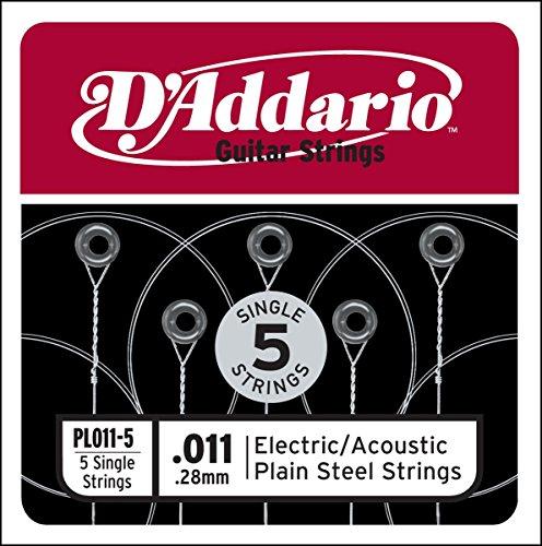 Corda singola PL011-5 in acciaio per chitarra.011, set di 5 corde