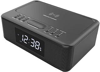 Lenoxx Wireless Charger Bluetooth Clock Radio