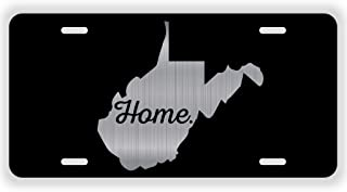JMM Industries West Virginia Home State WV Vanity Novelty License Plate Tag Metal 6-Inches by 12-Inches Etched Aluminum UV Resistant ELP070