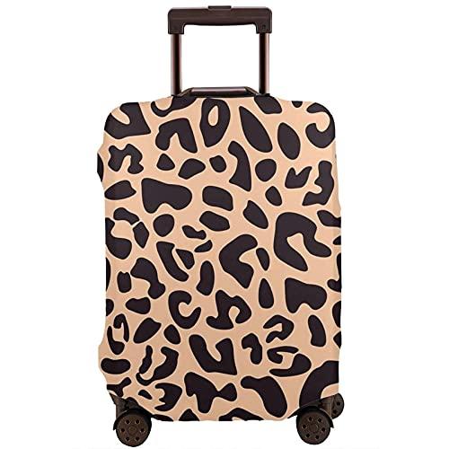 DJNGN Cubierta del equipaje del viaje del leopardo de la piel del guepardo, protector de la maleta del viaje, Suitc anti del rasguñoLa funda ase se adapta a equipaje de 18 a 28 pulgadas