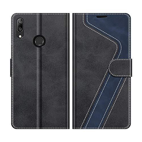 MOBESV Etui na telefon komórkowy do Huawei Y7 2019, etui skórzane, Huawei Y7 2019, z klapką, etui na telefon komórkowy Huawei Y7 2019, modne czarne