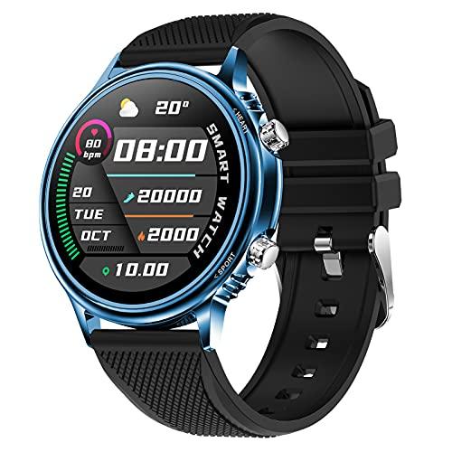 BNMY Reloj Inteligente Mujer Hombre, Smartwatch con Monitor De Pasos, Calorías, Sueño Y Ritmo Cardíaco, Reloj Inteligente Impermeable 5ATM, Reloj Deportivo para iOS Y Android,F