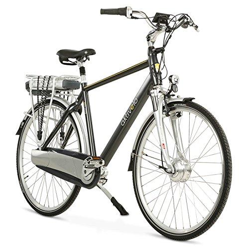 aktivelo Alu-Elektro-Fahrrad, Herren | 28 Zoll | Shimano Nexus 8-Gang Nabenschaltung | Akku 13 Ah mit 5 Motorunterstützungsstufen | LCD-Display & Aluminiumrahmen, Schwarz