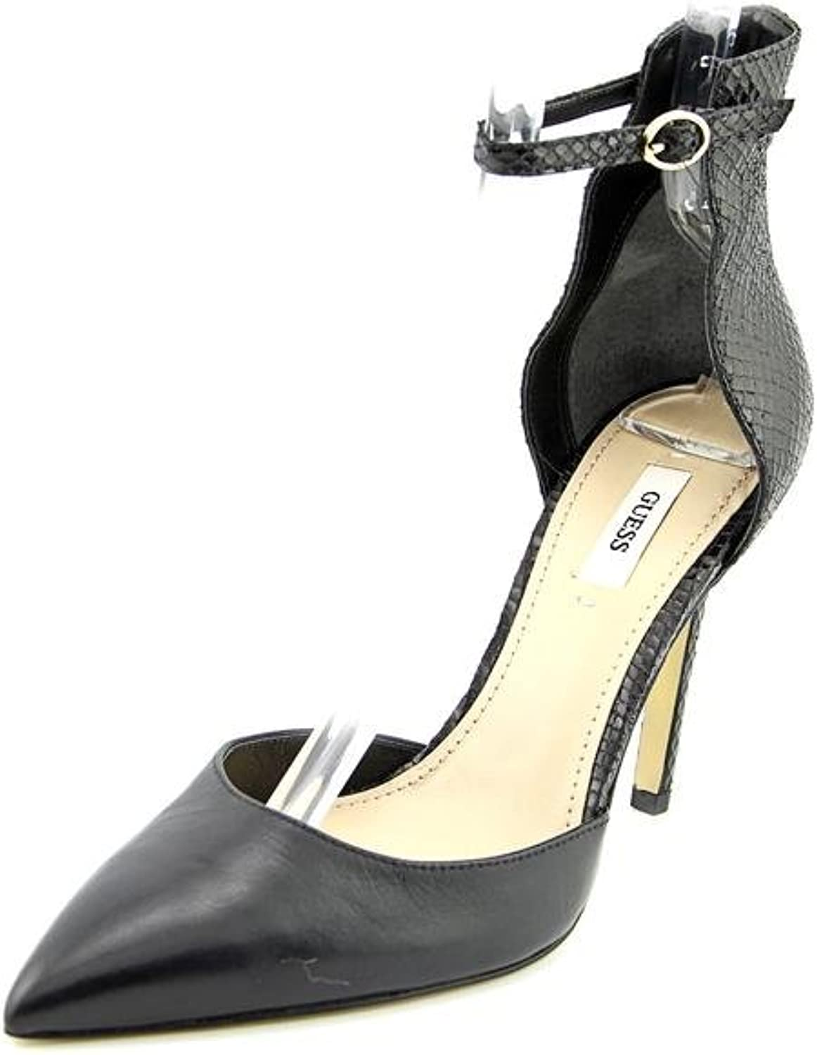 GUESS Women's Abaih 2 Black Leather D'Orsay 11 M