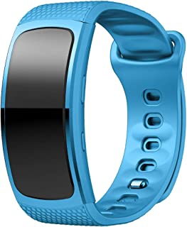 Watches accessories Silicone Wrist Strap Watch Band for Samsung Gear Fit2 SM-R360, Wrist Strap Size:150-213mm(Blue) (Color : Light Blue)