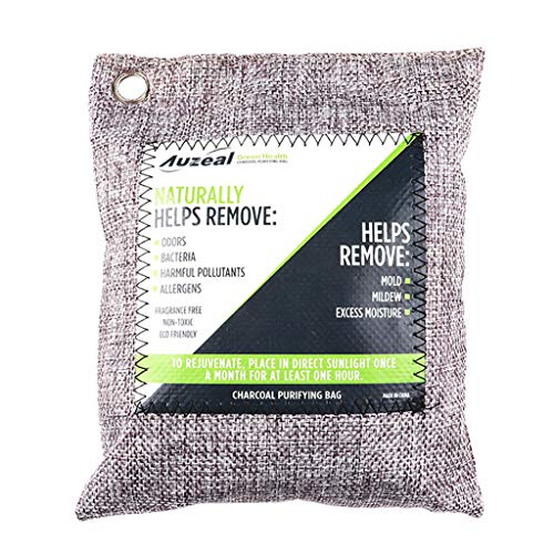 Find Bargain UNBRUVO Bamboo Charcoal Odor Eliminator Bag,Activated Charcoal Odor Absorber, Natural F...