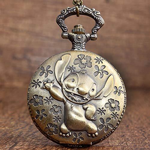 YYSD Retro Bronze Pocket Watch Pendant Vintage Cute Koala Necklace Chain Watch Boy Gift for Children
