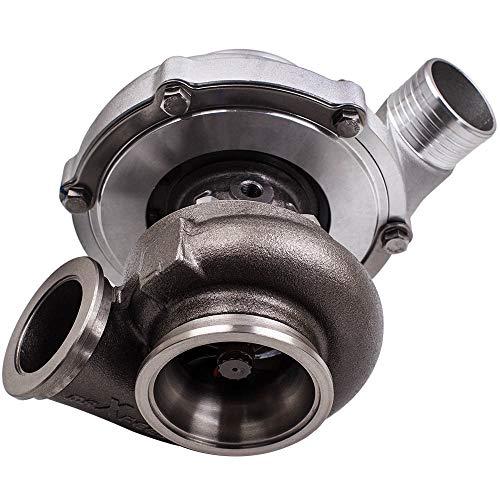Z.L.FFLZ Turbocharger GT3076 Racing Turbocharger V-Band Flange A/R 0.63 .82 Wet Float Water Cooling Compressor A/R 0.63 Turbine A/R 0.82 Turbolader