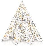 GRUBly servilletas de Papel - Navidad Doradas y Plateadas | Material Similar | Decoración de la Mesa Navidad | 40x40cm | AIRLAID Calidad | Paquete de 50