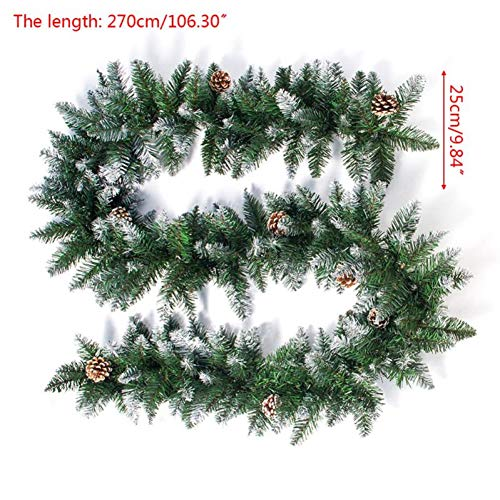 LJTJX Kerstmis rotan slinger dennenappels opknoping open haard stok kerstboom huisdecoratie