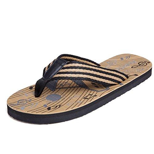 MERRYHE Pantoufles pour Hommes Summer Beach Sandales Antidérapantes Casual Grande Taille Tongs Vintage Classique Tongs Seaside,Brown-39
