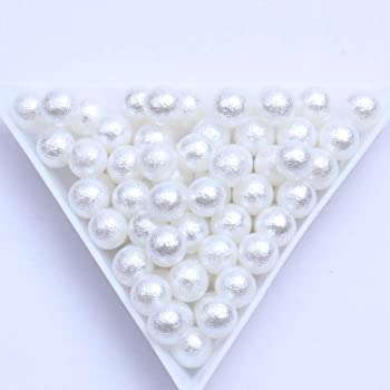 Resin Wrinkle Pearls No Hole Round Pearl 3 4 5 6mm Wedding Nail Decoration