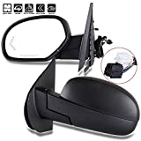 ECCPP Side Mirrors, A Pair of Rear View Mirrors Power Folding Power Heated Turn Signal Memory Black Door Mirror Replacement fit for 2007-2013 Chevy Silverado GMC Sierra 1500/2500 HD/3500 HD