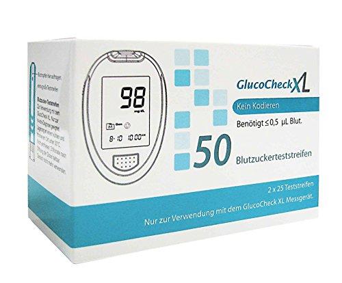 GLUCO CHECK XL Blutzuckerteststreifen 50 St Teststreifen