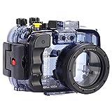 Vbestlife 60m / 195ft Funda Impermeable para cámara de Buceo subacuática para Sony A6000, A6300, A6500, 1 / 4in cámara de Tornillo a Prueba de Agua Shell