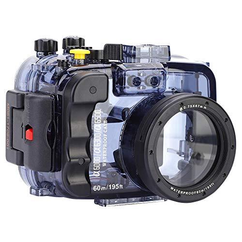 Mugast Funda Impermeable de Carcasa, Estuche de Buceo Submarino de 60 m / 195 pies con Orificios de Tornillo de 1/4 pulg. para cámaras Sony A6000 / A6300 / A6500