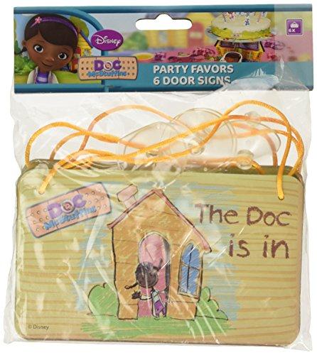 Disney Junior Amscan Doc McStuffins 6 pièces Porte Signes Carte Accessoire de fête