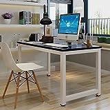 GOTOTOP Tavolo per Computer Tavolo Ufficio riunioni Mobile PC, Computer Desk Scrivania Postazioni di...