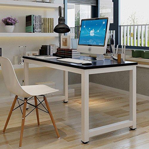 GOTOTOP Tavolo per Computer Tavolo Ufficio riunioni Mobile PC, Computer Desk Scrivania Postazioni di Lavoro,Tavolo da Pranzo per casa e Ufficio Studio e Scrittura,120×60×74cm (Nero)