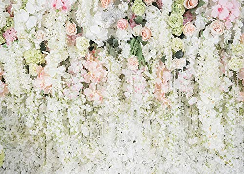 White Flower Backdrop Curtain Floral 3D Flower Wedding Birthday Party Background Photo Backdrop Carnival Party Backdrop