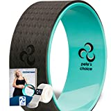 Dharma Yoga Wheel with BONUS eBook & FREE Yoga Strap - Comfortable & Durable Yoga Balance Accessory | Increase Flexibility | Ideal Home Yoga Kit