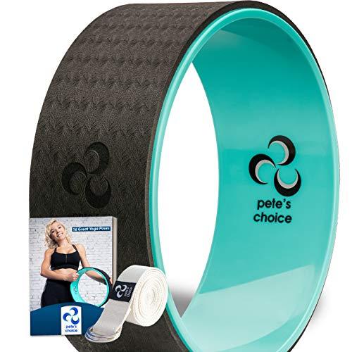 Ruota Yoga - Yoga Wheel Pilates con eBook e Cinghia da Stretching Inclusi I Resistente e Confortevole I Accessori Palestra per Migliorare Flessibilità Muscolare (Ruota + Cinghia)