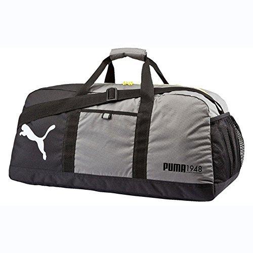 PUMA Fundamentals M Sports Bag, Steel Grey, 24 x 29 x 31.5 CM, 54 Litre 072575 06 by Puma