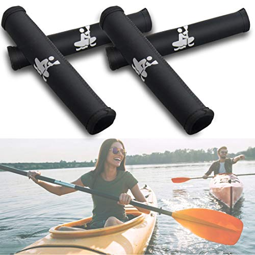 Boaton 4Pcs Kayak Paddle Grips, Non-Slip Paddle Grip, Prevent Blister and Callouses, Make Kayaking Easier and Comfortable, Kayak Accessories. Black