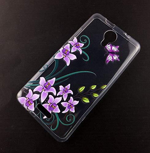 König Design Handy-Hülle kompatibel mit Wiko Jerry 2 Silikon Case Hülle Sturzsichere Back-Cover Handyhülle - Lotusblume