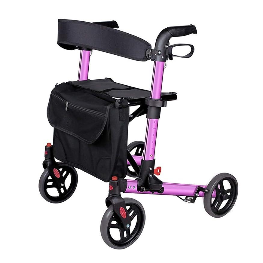 福祉狼強制的老人のショッピングカートのプッシュは、歩行歩行器に座ることができます